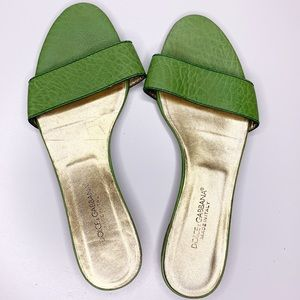 Dolce and Gabbana one strap sandals